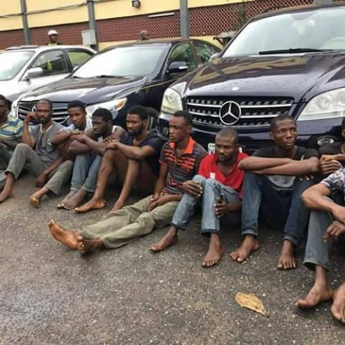 10-Man Robbery Gang arrested by Lagos State Police Rapid Response Squad