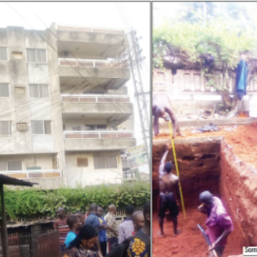 Fetish Foundation, Building uncovered in  Anambra by Site Workers
