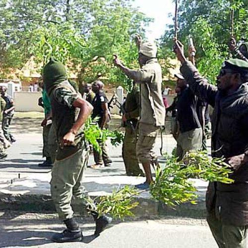Unpaid Allowances sparks Police Protest In Maiduguri