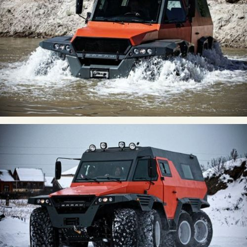 Russian-Made 8 Wheels-All-Terrain Shaman, Biggest SUV ever (Photos)