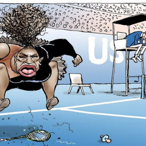 Australian Cartoonist Under Fire Over Controversial Sketch Of Serena