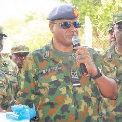 Insurgency: Chief of Air Staff directs men to fight harder.
