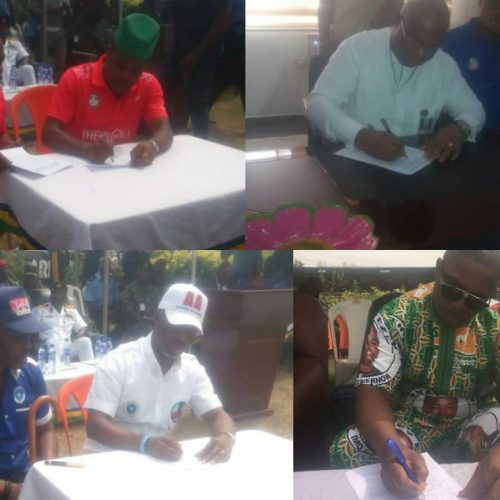 Imo 2019: Guber Candidates Gets Ready for Polls, Signs Peace Accord