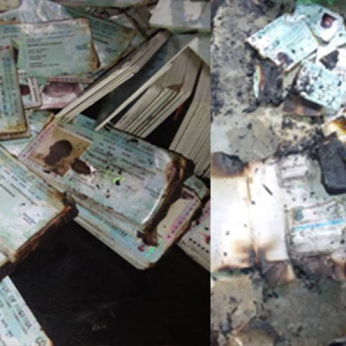 13 Days to Go: Uncollected PVCs set Ablaze in Abia