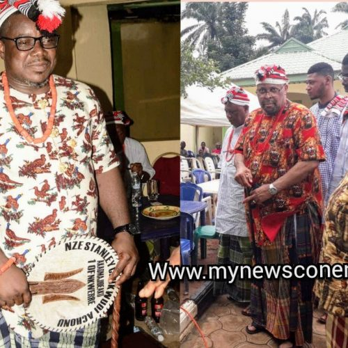 Achonu Receives 'Akaomajideaku' Nzeship Title from Nkwerre Cultural, Traditional Institution