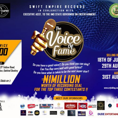 """The First Ever Music Talent Hunt """"Voice Of Fame"""" Set To Go Down In Owerri"""