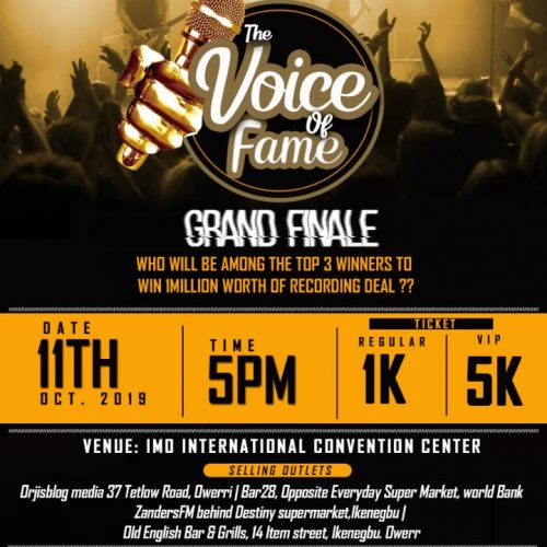 Voice of Fame: Watch Imo Talents Display Amazing Voice Skills & Lyrics On Stage, Come 11th October