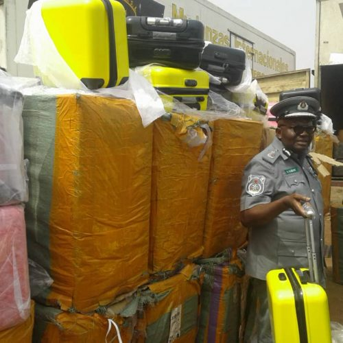 Customs impounds 333 Bags of Foreign Rice, 4,958 Pieces of Used Tyres