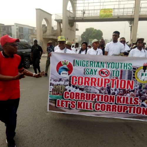 Fight Against Corruption: Imo NYSC, EFCC Engage Youths, Others on Solidarity Walk
