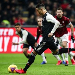Ronaldo penalty snatches Juventus first-leg draw at Milan