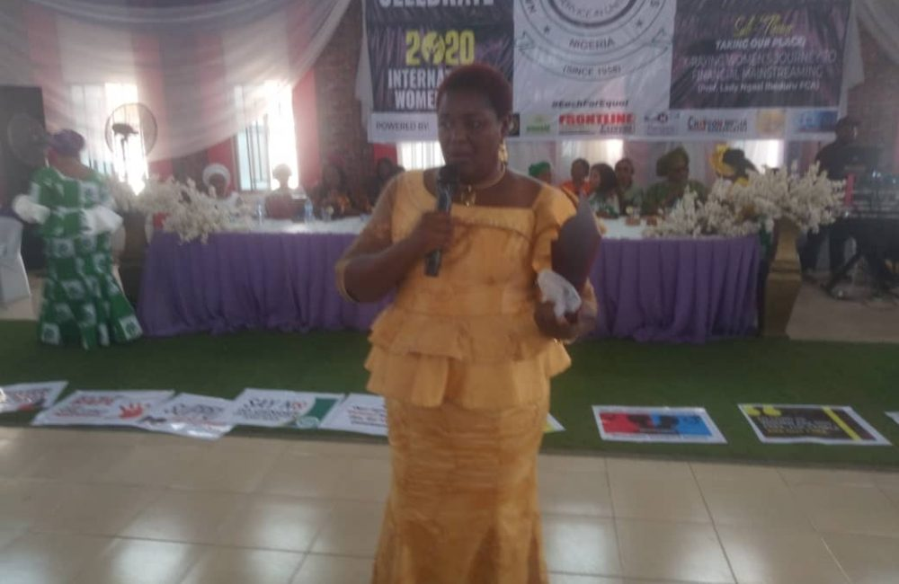 Member representing Isu State Constituency in Imo House of Assembly, Rt Hon Ngozi Obiefule, after she received an <div style='margin-right: 10px; float: left;'> </div> Ambassador Woman of Inspiration Award from NCWS, Imo State chapter, in recognition of her contribution to women empowerment