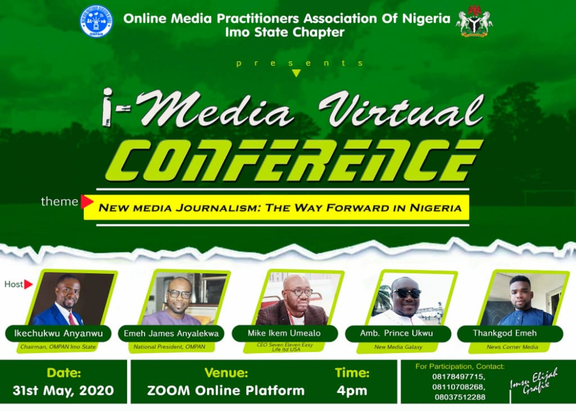 Hate Speech: Imo Online Media Practitioners Kicks, Holds Webinar 31 May To Tackle surrounding Issues, Fake News