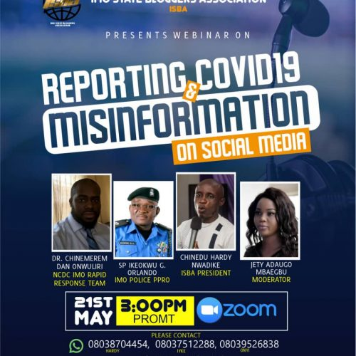 Imo State Bloggers Holds Webinar on Covid19 Misinformation May 21