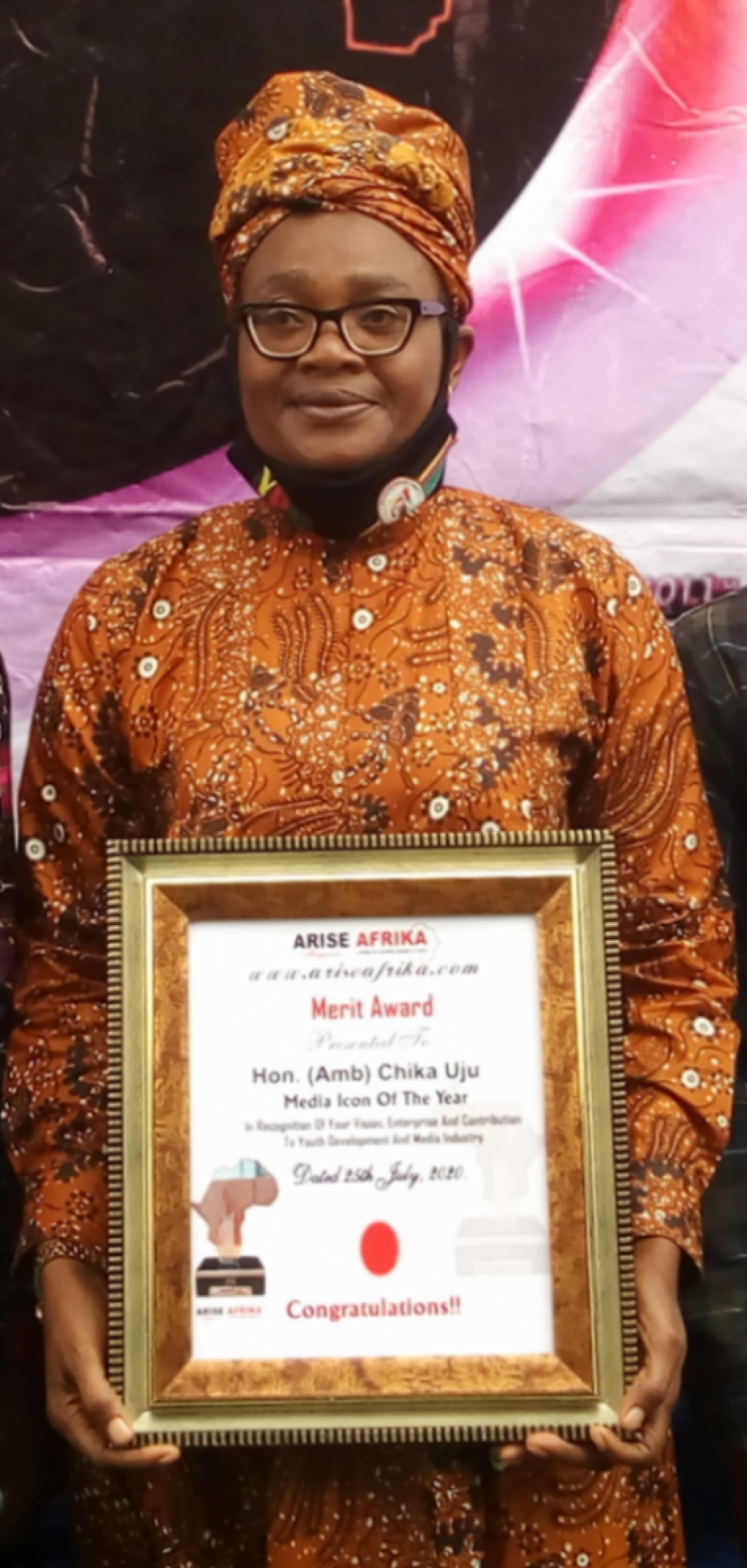 Amb Uju Bags Media Icon of the Year Award from Arise Africa Magazine